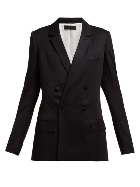 Haider Ackermann - Double Breasted Blazer - Womens - Black