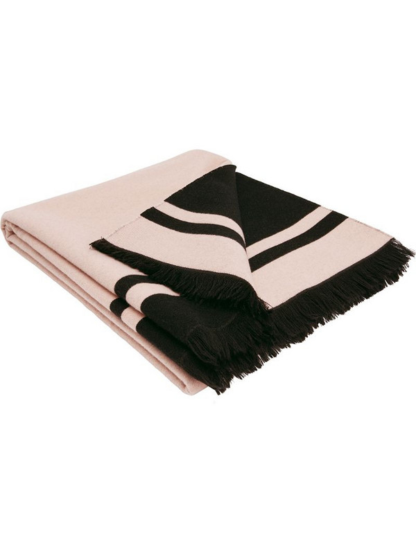 Fendi logo-print scarf in pink