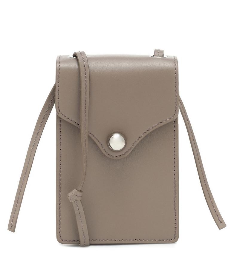 Ratio et Motus Disco leather crossbody bag in beige