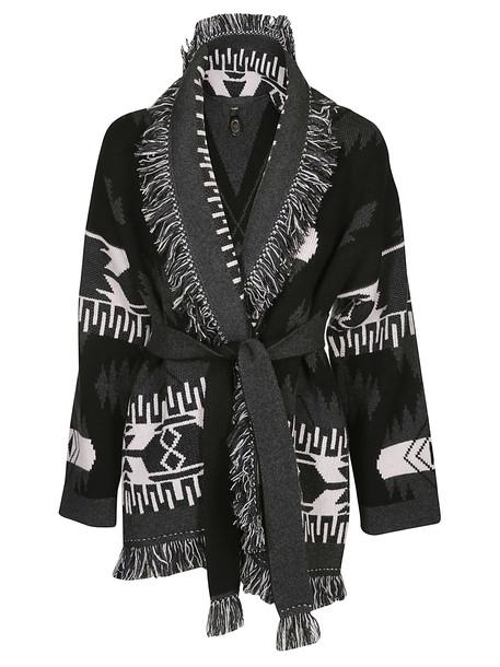 Alanui Icon Jacquard Cardigan in black