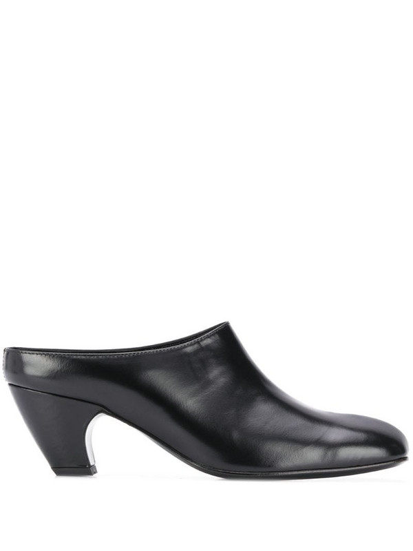 Dorateymur square toe block heel mules in black