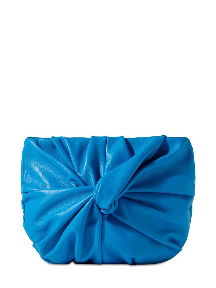 HEREU Gorga Knot Leather Shoulder Bag in blue
