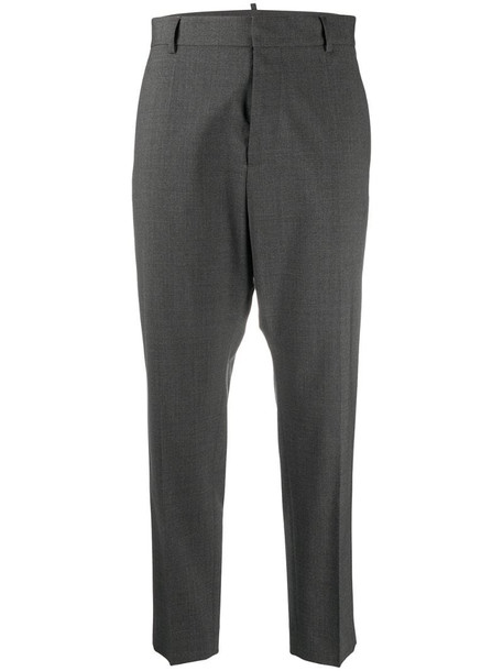 Dsquared2 tailored cropped trousers in grey