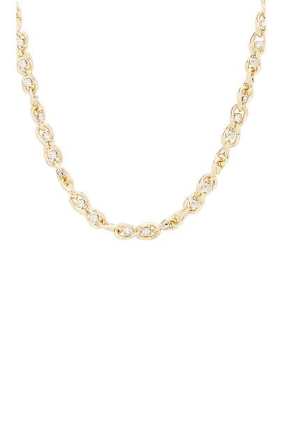 SHASHI Sarah Curb Chain Necklace in gold / metallic