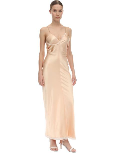 ALEXANDER WANG Satin Laced Midi Dress in peach