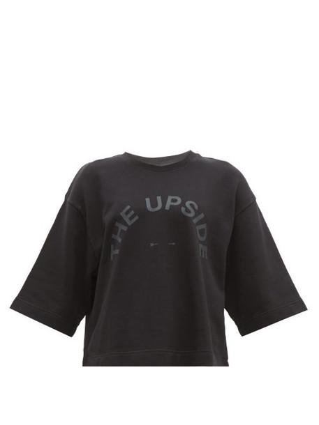 The Upside - Brando Logo Print Jersey Cotton Top - Womens - Black
