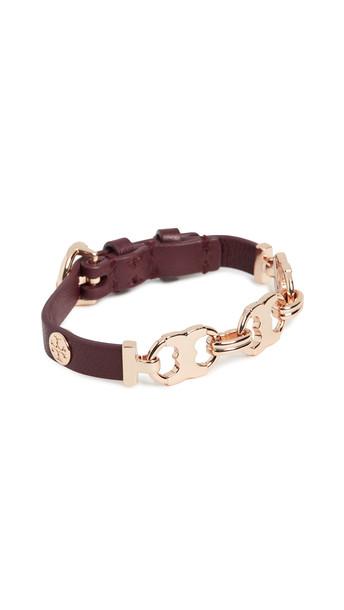 Tory Burch Gemini Link Wrap Bracelet in gold