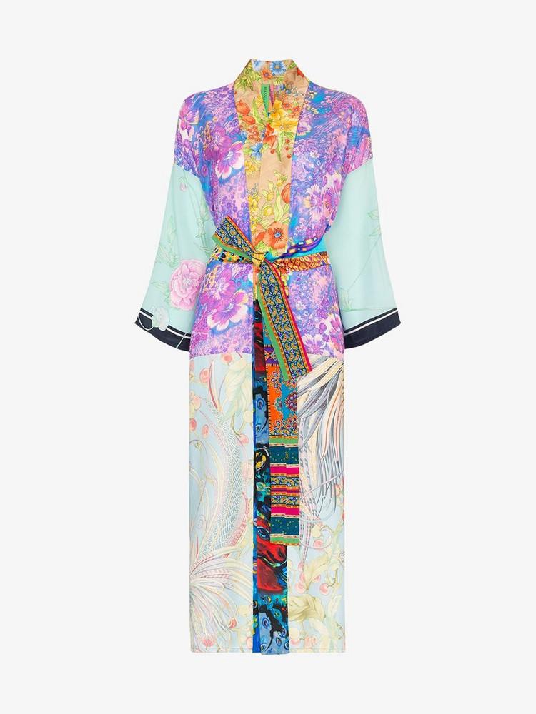 Rianna + Nina Rianna + Nina psychedelic floral print silk kimono