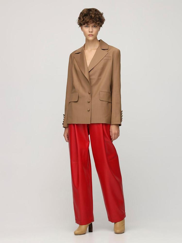 MATÉRIEL Cool Wool Blazer W/ Back Detail in camel