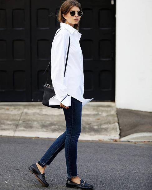 shirt, tumblr, white shirt, denim