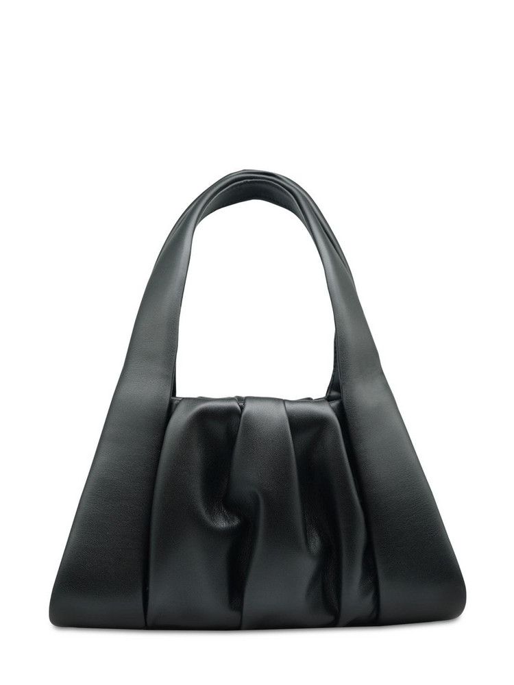 THEMOIRÈ Clio Basic Faux Leather Top Handle Bag in black
