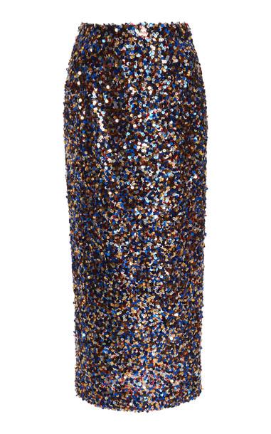 Carolina Herrera Sequin Pencil Skirt in multi