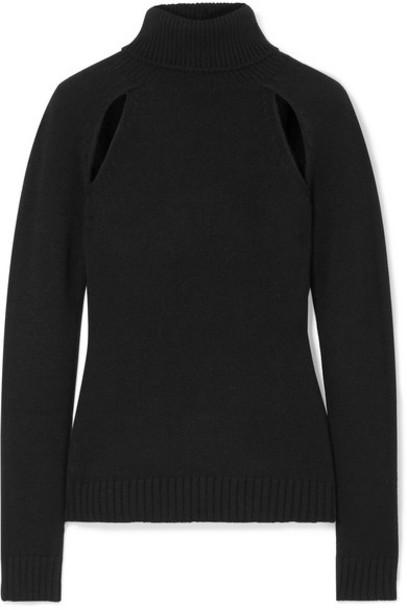 TOM FORD - Cutout Cashmere Turtleneck Sweater - Black