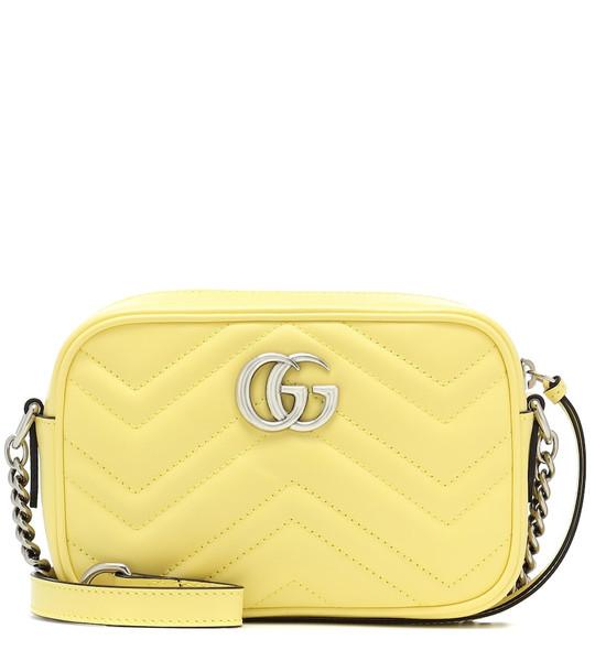 Gucci GG Marmont Mini crossbody bag in yellow