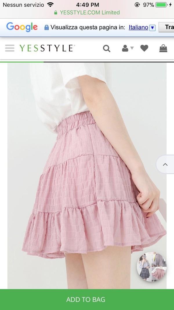 skirt korean fashion korean fashion kpop yesstyle pink pink skirt