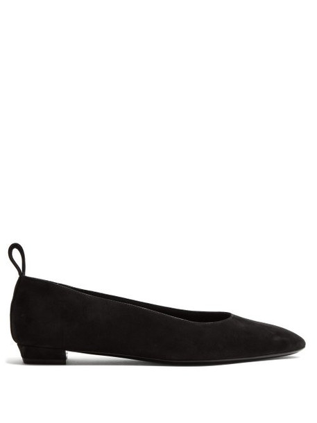 The Row - Lady Di Suede Pumps - Womens - Black