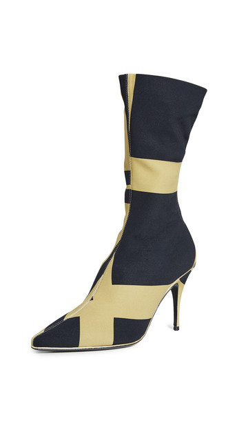 Zimmermann Mid Length Zip Lycra Boots in gold