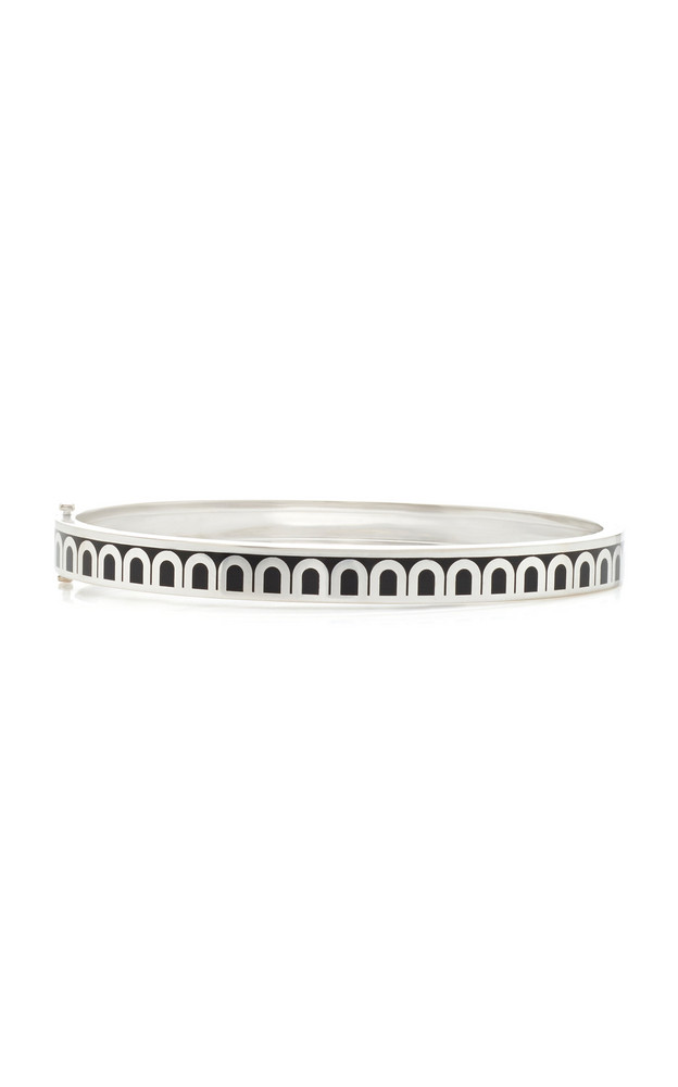 DAVIDOR L'Arc 18K White Gold Bracelet in black