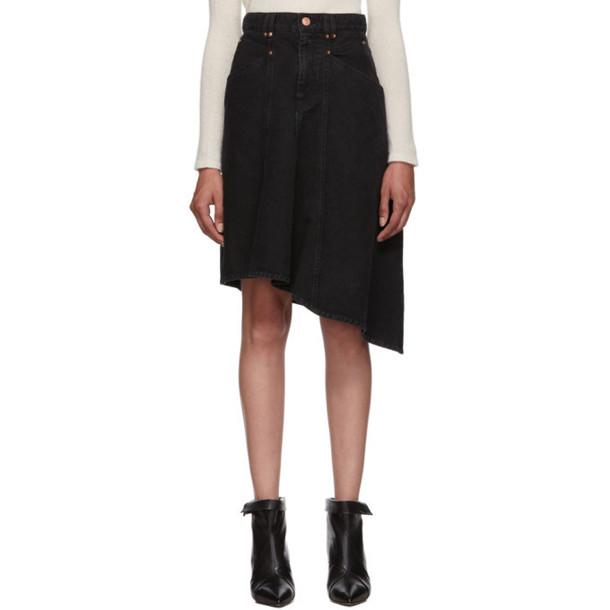 Isabel Marant Black Denim Dranel Skirt
