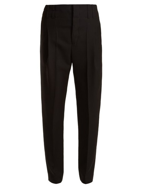 Haider Ackermann - High Rise Wool Trousers - Womens - Black