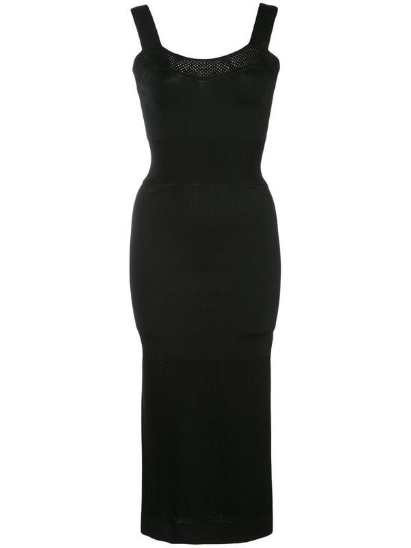 Fleur Du Mal fitted knit midi dress in black