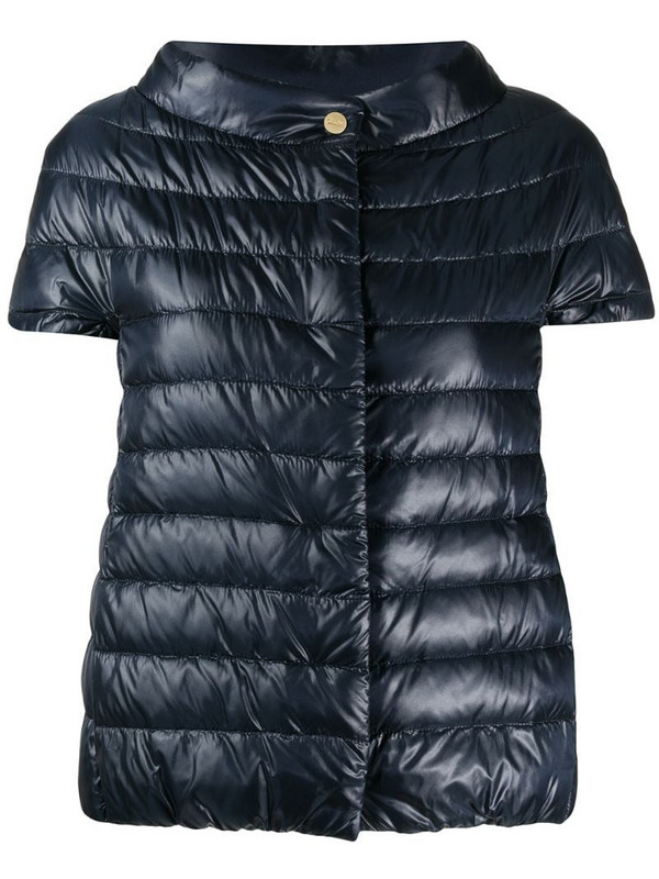 Herno Great short-sleeved down jacket in blue