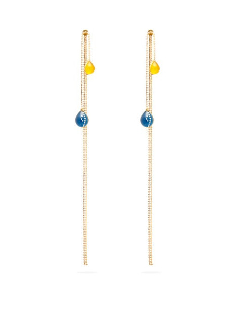 Christopher Kane - Crystal Embellished Balloon Earrings - Womens - Yellow