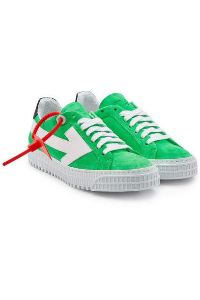 Off-White Arrow Suede Sneakers  in green
