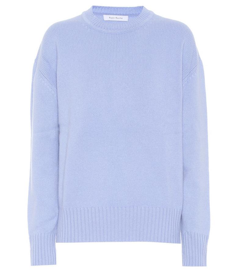 Ryan Roche Cashmere sweater in blue