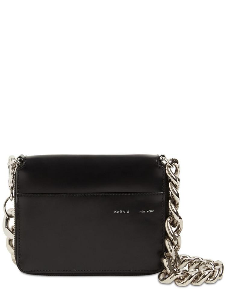 KARA Large Bike Leather Wallet Bag in black