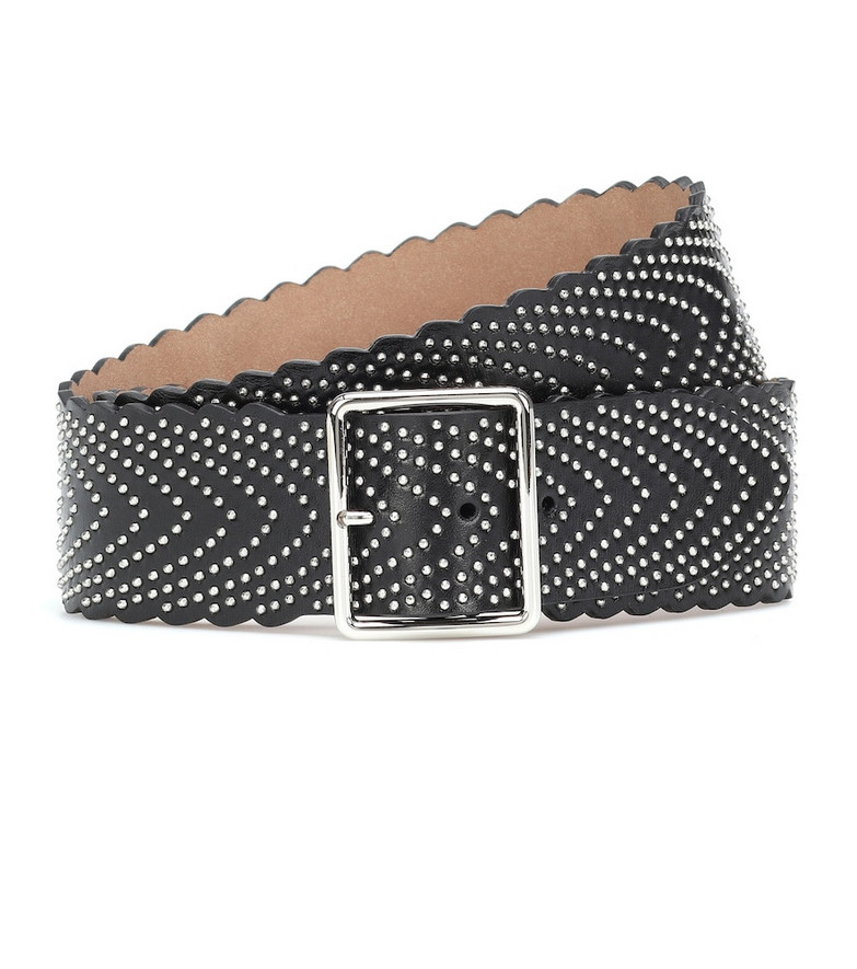 Alaïa Embellished leather belt in black