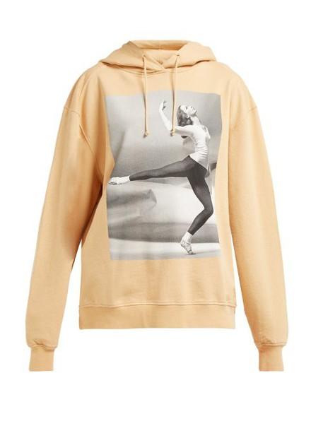 Acne Studios - Photographic Printed Cotton Hooded Sweatshirt - Womens - Beige