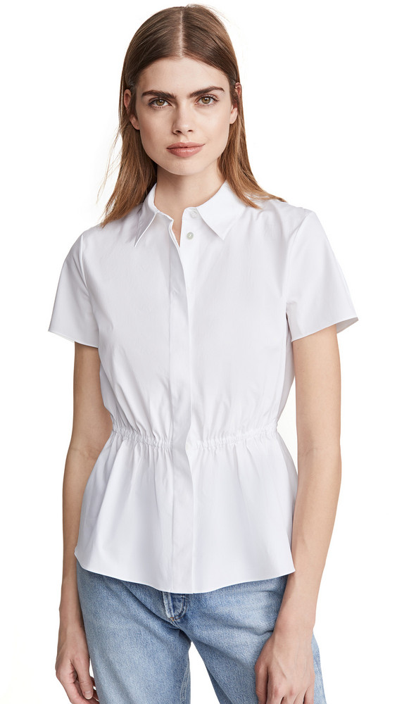 Theory Cinched Shirt in white