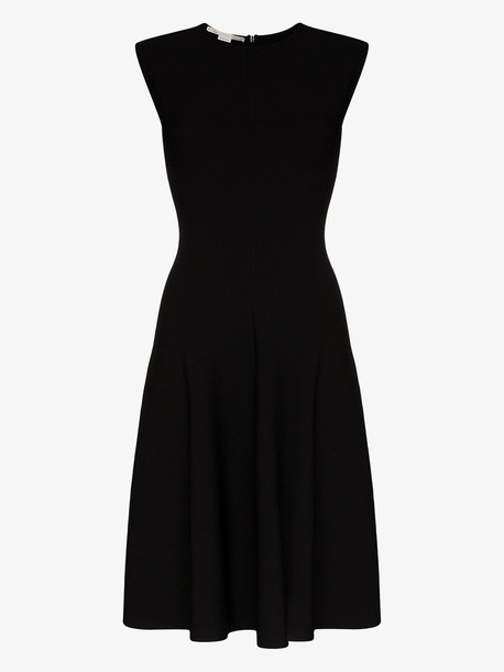 Stella McCartney Compact flared dress in black
