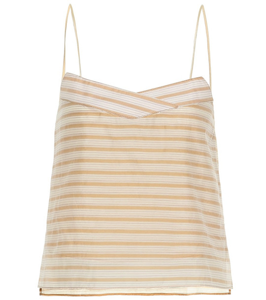 Arjé The Koko cotton and silk camisole in beige