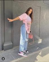 shirt,pink top,streetwear,streetstyle,pink