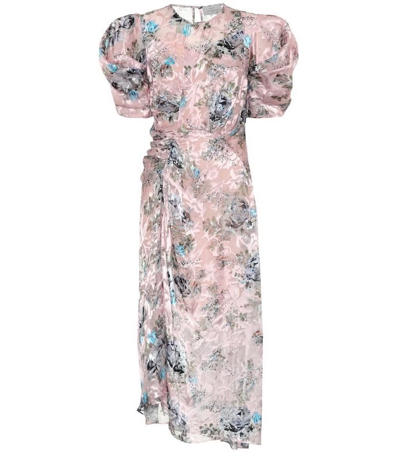 Preen by Thornton Bregazzi Pippa floral silk-blend midi dress in pink