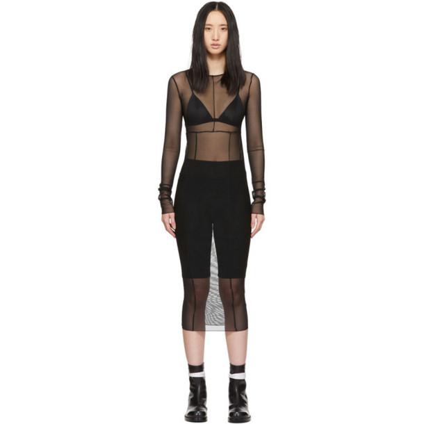 1017 Alyx 9SM Black Mesh Daisy Chain Dress