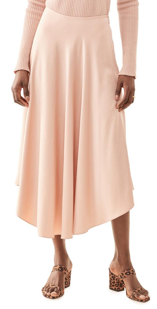 LAPOINTE Handkerchief Skirt in blush