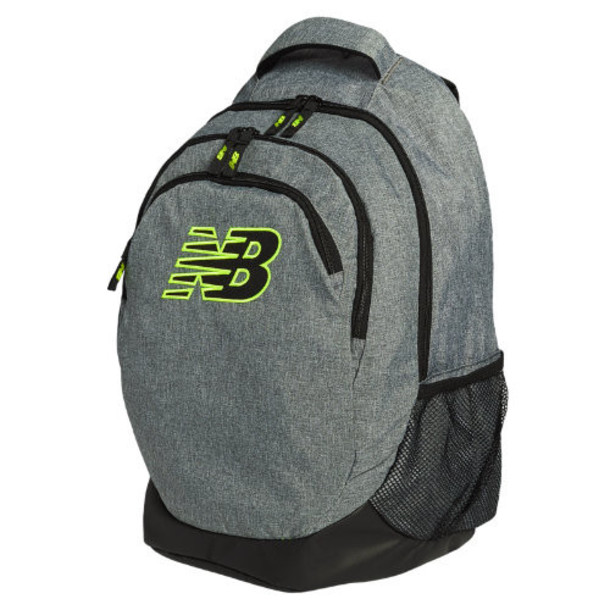 New Balance Men's & Women's 2.0 Performance Backpack - Grey, Black (NB-1234GRY)