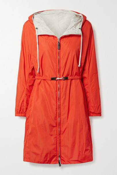 Max Mara - The Cube Esporte Reversible Hooded Shell Jacket - Bright orange