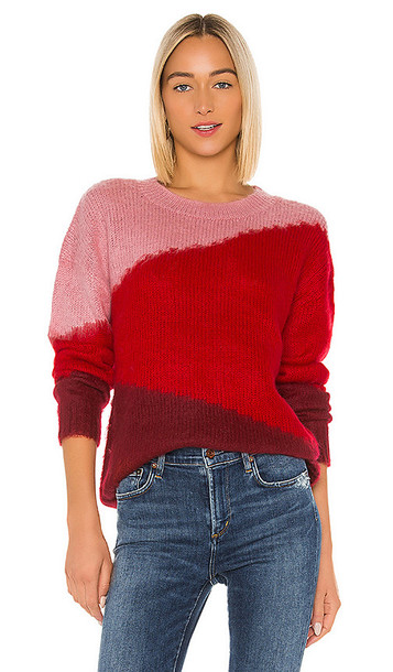 Lovers + Friends Lovers + Friends Isabel Sweater in Pink,Red