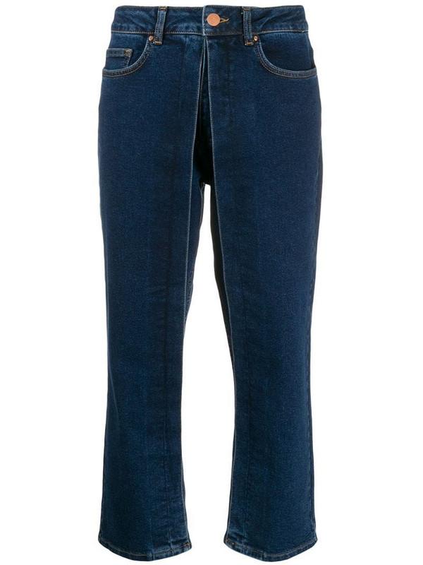 Aalto straight-leg trousers in blue