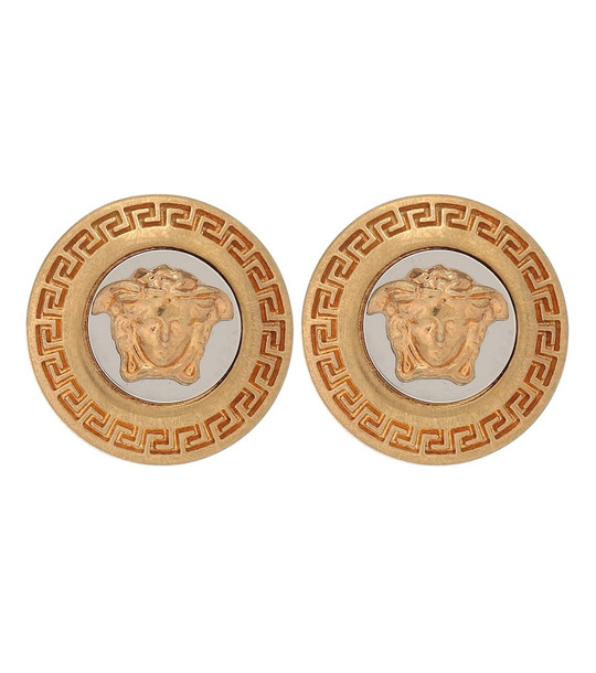 Versace Medusa earrings in gold