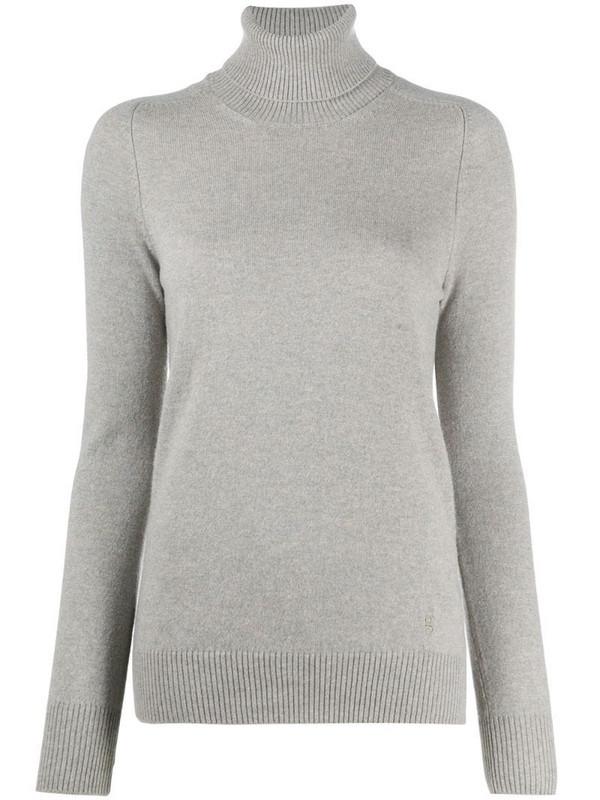 Gentry Portofino cashmere roll neck jumper in grey