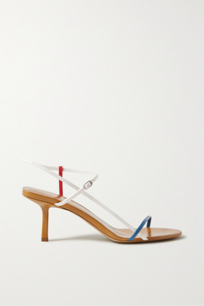 The Row - Bare Color-block Leather Sandals - Tan