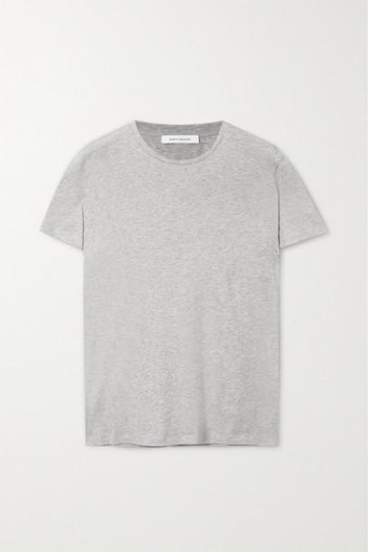 Ninety Percent - Jenna Organic Cotton-jersey T-shirt - Gray