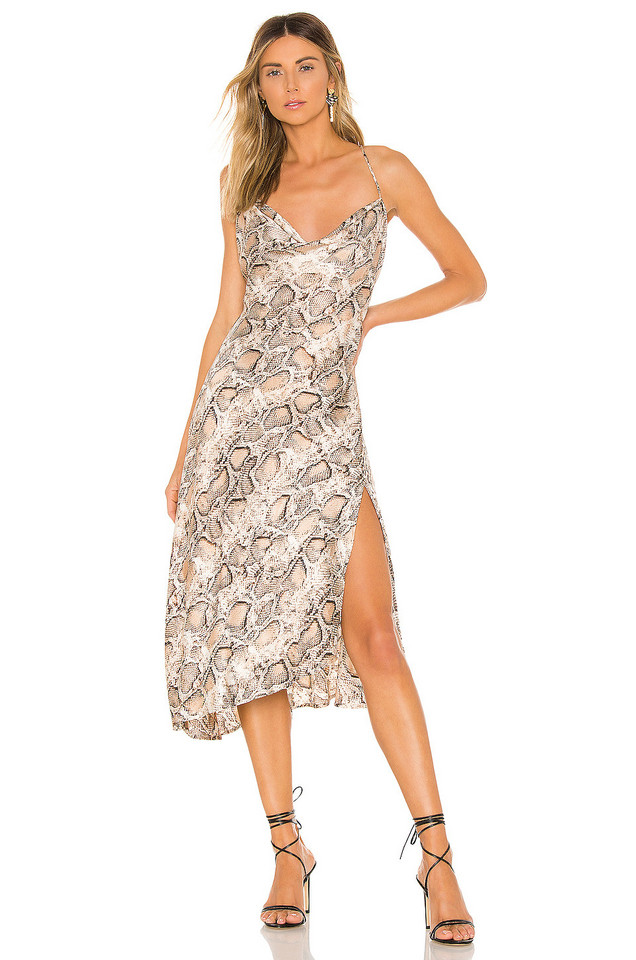 ASTR the Label Cowl Strappy Dress in brown
