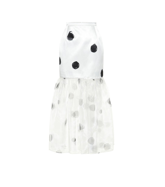 Christopher Kane Dot-print skirt in white