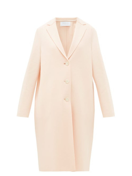 Harris Wharf London - Single-breasted Felted-wool Coat - Womens - Light Pink